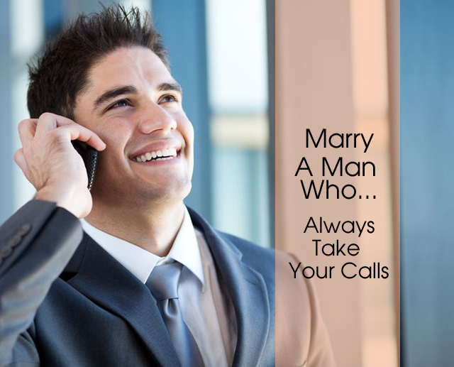 Marry man take calls