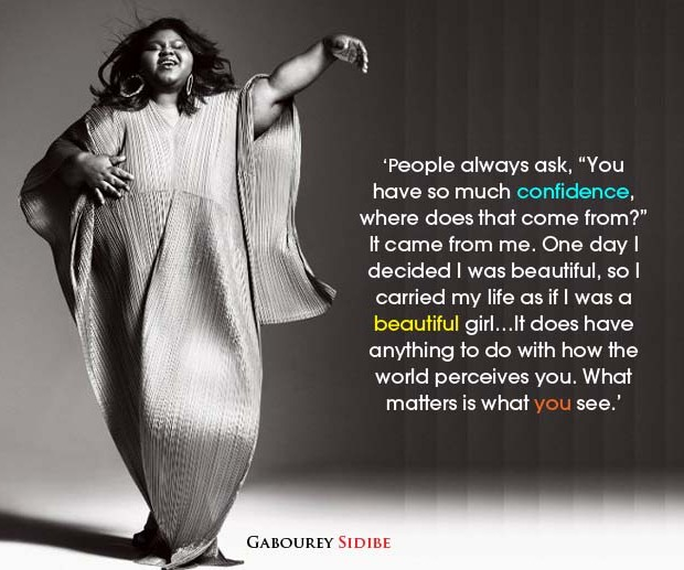 gabourey sidibe confidence quote