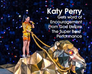 Cover Katy Perry encouraged by God at SuperBowl