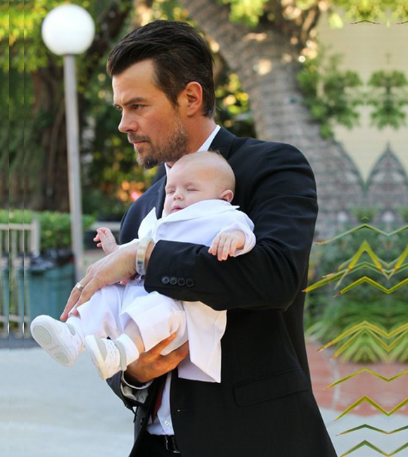 Inside image Josh Duhamel with Son