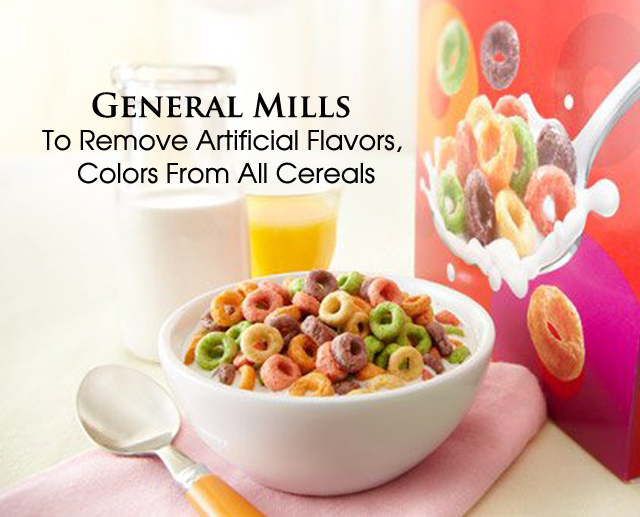 cover Gen Mills Remove color from cereals