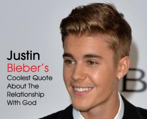 cover Justin Bieber awesome God quote