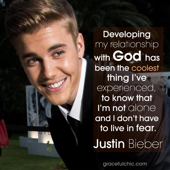 inside image 3 Justin Bieber awesome God quote