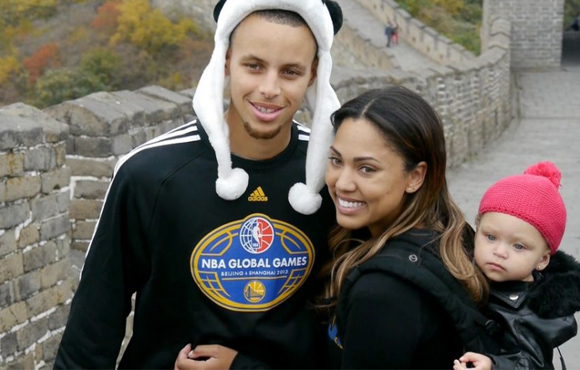 inside image 6 Steph Curry, wife and daughter