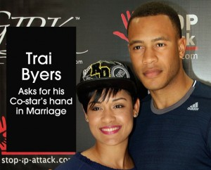 Cover Trai Byers engaged to co-star