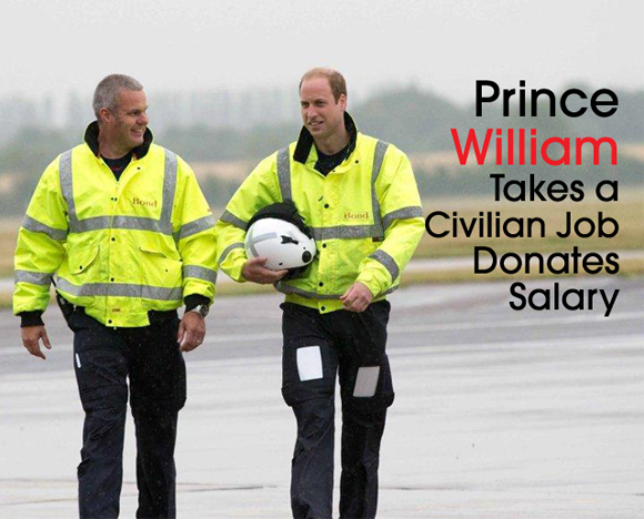 Inside cover Prince William civilian job