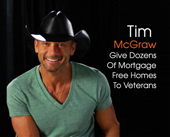 Inside cover TIm McGraw Give free houses to Vets