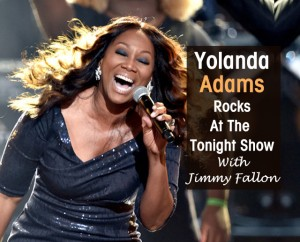 Cover Yolanda Adams at the Tonight Show
