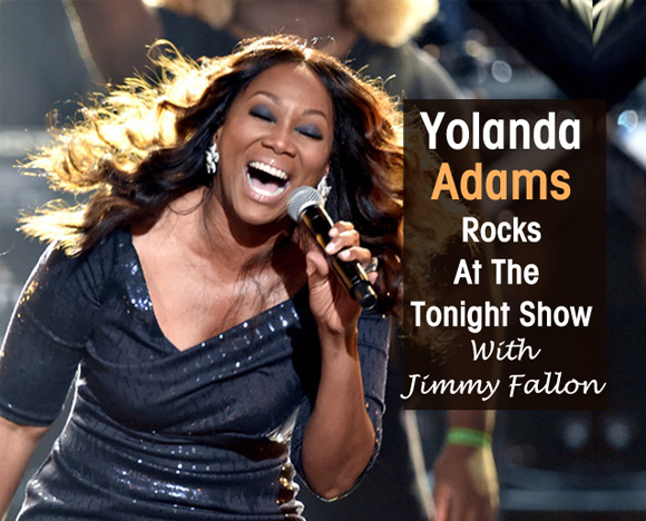 inside cover Yolanda Adams the Tonight Show