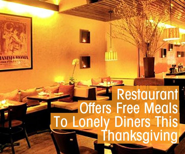 Cover Free restuarant meal if alone this Thanksgiving