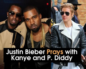 cover Justin B prays with PDiddy & Kanye